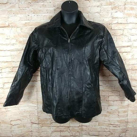 Flight Path Other - Vintage 80's Flight Path leather jacket Sz M